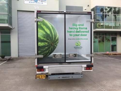 Australian FastSigns - Woolworths- truck signage