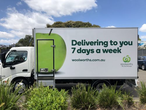 Australian FastSigns - Woolworths- truck signage