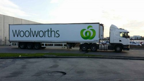 Australian FastSigns - Woolworths- fleet graphics